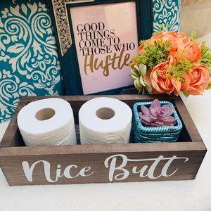 Nice Butt Bathroom Decor/Toilet Paper Holder